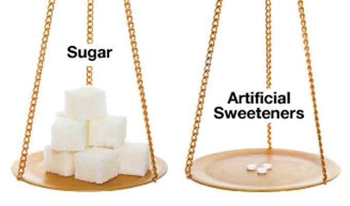 Use sweeteners in minimum quantities