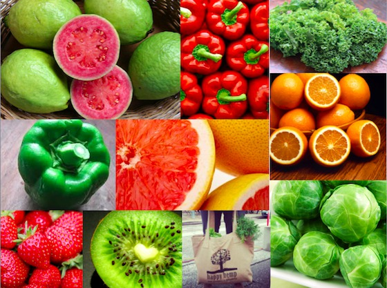Eat colorful produce for high Vitamin C content