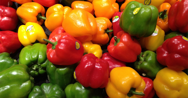 Bell peppers have abundant vitamin C