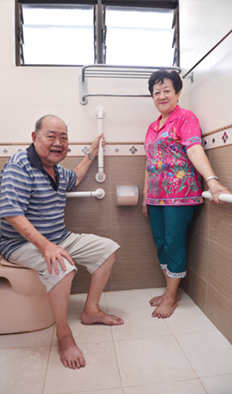 Elderly people can make their house comfortable to age gracefully