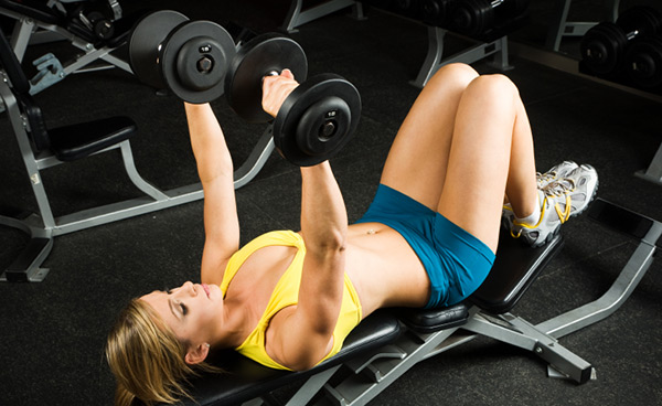 Testosterone, the main ingredient for muscle building is present in decreased amounts in women
